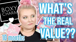 I Tried Boxycharm for 10 Months... Cost Benefit Analysis of the ACTUAL Value! | Lauren Mae Beauty
