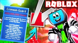 Buying the NEW GIFTED Crimson Guard *OVERPOWERED* Roblox Bee Swarm Simulator