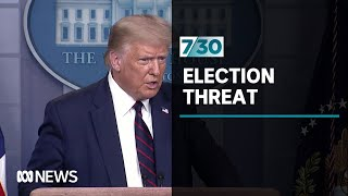 Donald Trump lays blame for any potential loss at the polls in November on voter fraud | 7.30