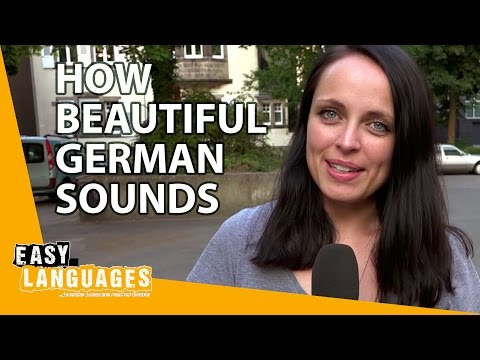 How beautiful German sounds compared to other languages