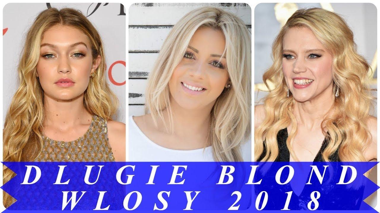 Nowoczesne Fryzury Z Długich Blond Włosów 2018 Damskie