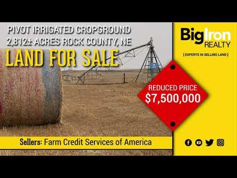 2,812± Acres Rock County, Nebraska - Land For Sale - Reduced Price - BigIron Realty
