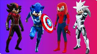 Sonic Movie 2 Characters and Avengers Fusion