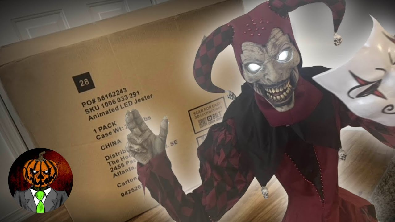 NEW FOR 2021 3-Faced Jester UNBOXING/SETUP - The Home Depot Animatronic