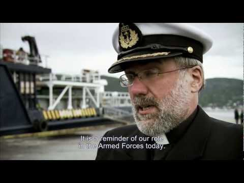 "Kystverket  - Memorial service ""HMS Bittern"" in Namsos - English version"