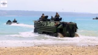 Japan Self-Defense Force & U.S. Marines - Assault Amphibious Vehicle Surf Qualification