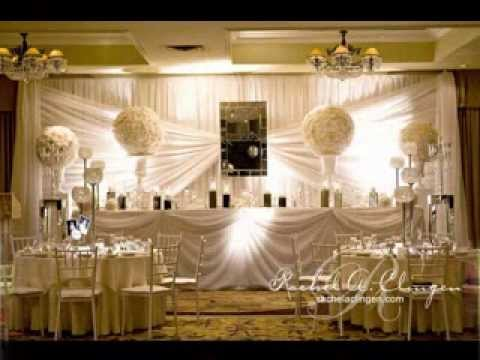 Easy DIY wedding backdrop decorating ideas - YouTube