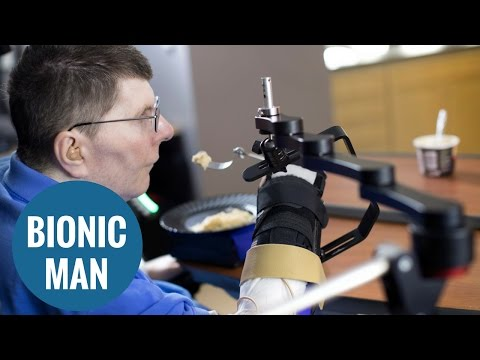 A quadriplegic has been able to move his arm for the first time in eight years