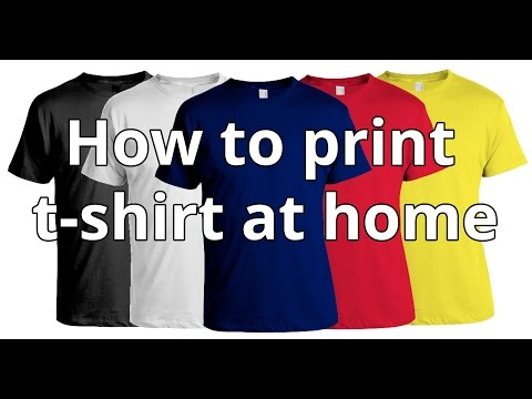 How To Print T-shirt At Home | DIY T-shirt Printing