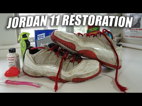 Jordan 11 Low Full Restoration | A Quick Thrift Fix: Trash to Treasure!