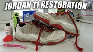 Jordan 11 Low Full Restoration | A Quick Thrift Fix: Trash to Treasure!