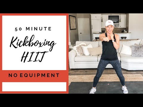 50 Minute At Home Kickboxing HIIT Workout