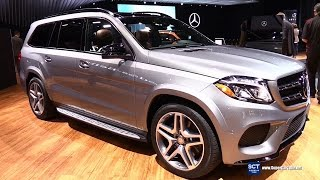 2016 Mercedes-Benz GLS-Class GLS 550 4Matic - Exterior and Interior Walkaround - 2015 LA Auto Show