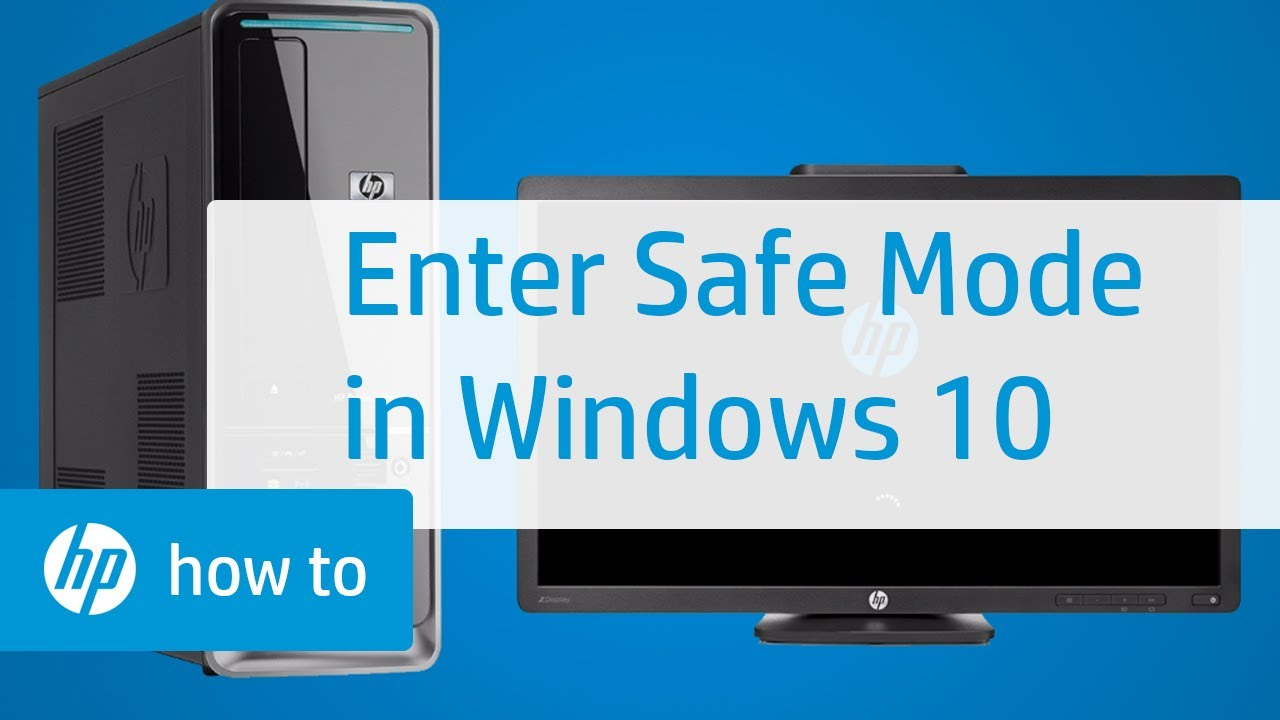 Enter Safe Mode From Windows 10 Hp Computers Hp Youtube