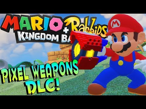 Mario + Rabbids Kingdom Battle Gameplay - PIXEL WEAPONS & FIRST BOSS! - Mario Rabbids Kingdom Battle