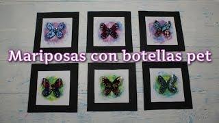 Mariposas con botellas pet