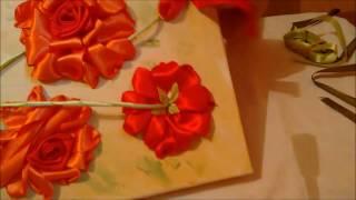 Quadro rosas de cetim parte 2 – passo a passo