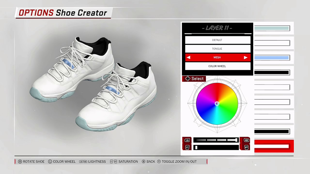 NBA 2K18 Shoe Creator Air Jordan 11 Low Custom