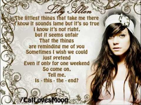 Littlest Things - Lily Allen (Lyrics)
