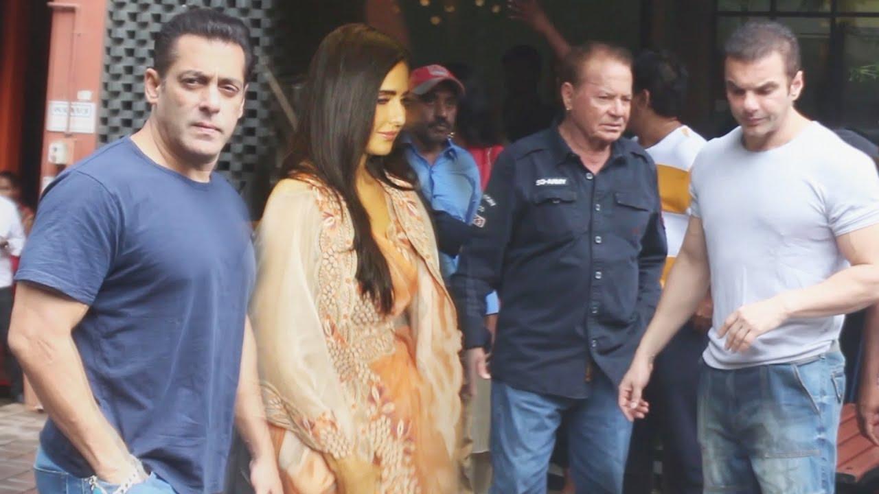 Salman Khan And Katrina Kaif At Arpita Khan's Ganesh Pooja 2019