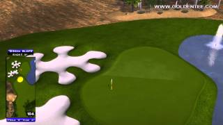 Golden Tee Great Shot On Desert Valley!