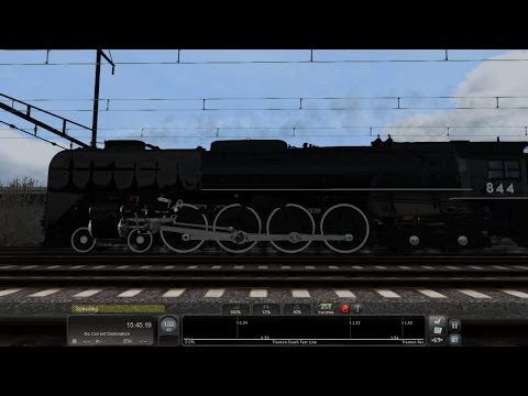 TS2015 HD EXCLUSIVE: Union Pacific FEF-3 844; How Fast Will She Go? 130 MPH High Speed Test on NEC