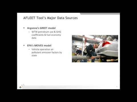 Webinar: Environmental and Economic Costs of Your Fleet  Using the AFLEET Tool