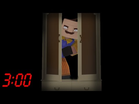 DON'T OPEN THE WARDROBE AT 3:00 AM - Hello Neighbour Horror