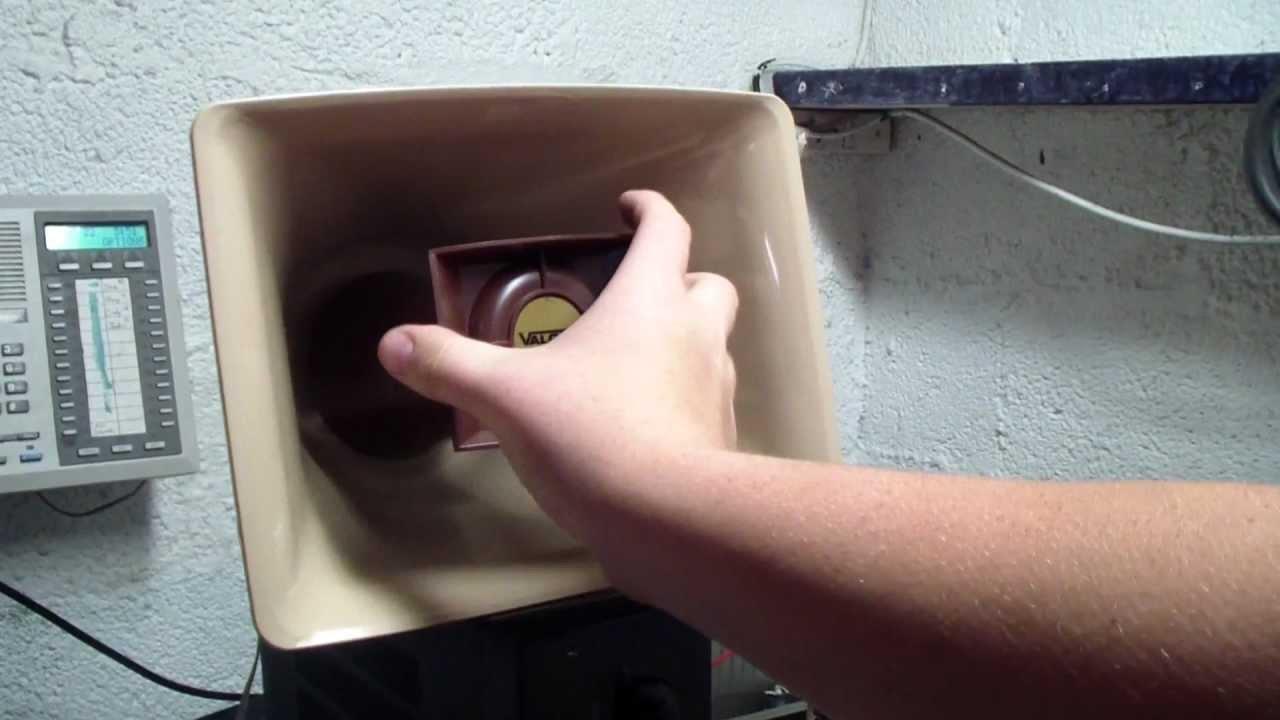 Valcom Paging Loudspeaker Horn Model V 1030C Repair Part 1 YouTube