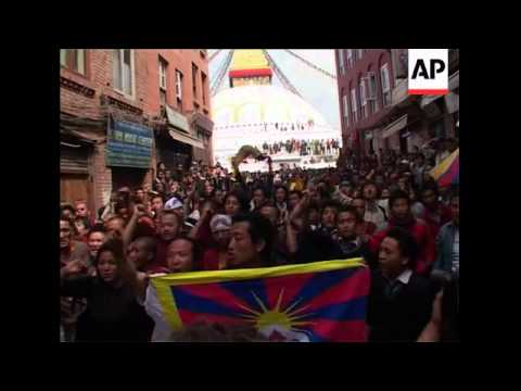 Pro-Tibet protests in Nepal and Germany on 50th anniv of uprising