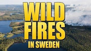 MASSIVE Wildfires in Ljusdal, Sweden 2018