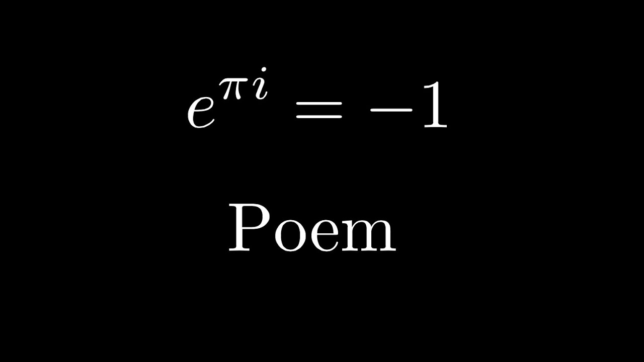 Math Poetry — 3Blue1Brown