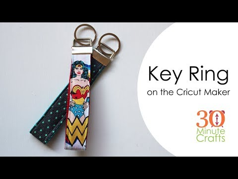 Cricut Maker Key Ring Step-by-step tutorial