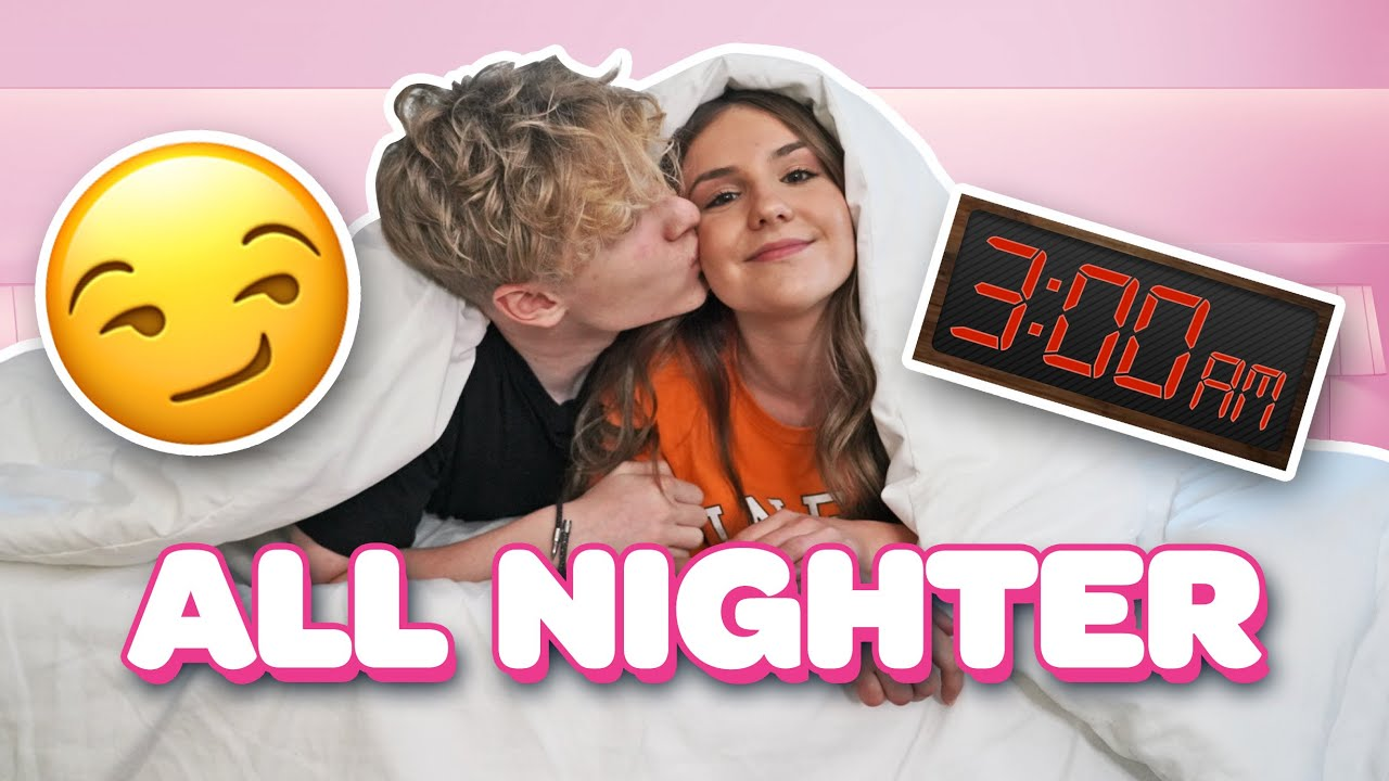Pulling Our First All Nighter As A Couple! **WE KISSED** 😘|Lev Cameron