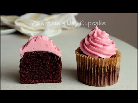 [Eng] 10분 만에 준비! 발렌타인데이 초코 컵케이크(러블리한 버터크림은 덤!) Valentine's Day Cupcakes Recipe   하다앳홈