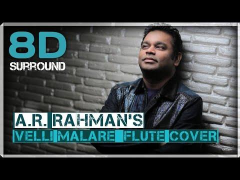Velli Malare Flute Cover 8D || A.R. Rahman || Jodi || Prasanth || Simran