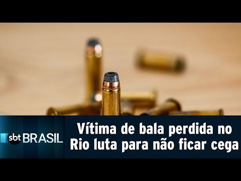 Vítima de bala perdida no Rio luta para não ficar cega   SBT Brasil (13/08/18)