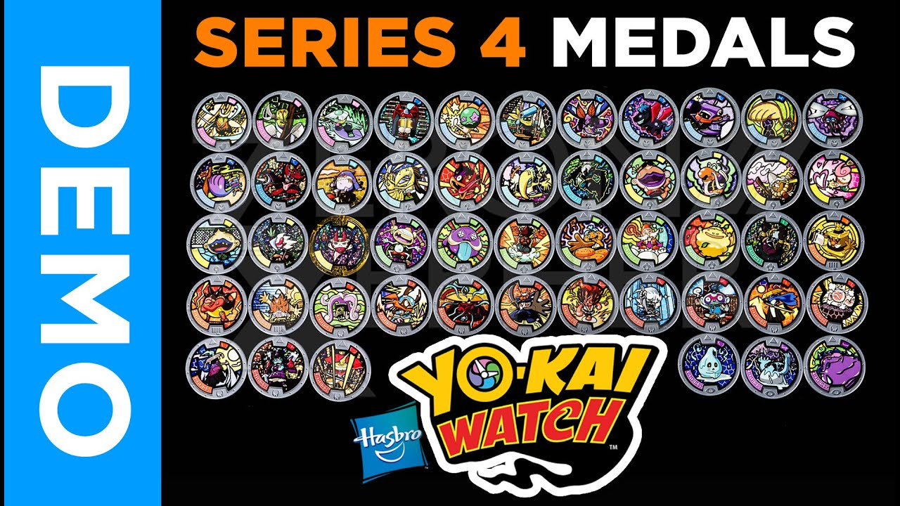 4k hasbro yo kai watch all series 4 medals from for Decoration yo kai watch