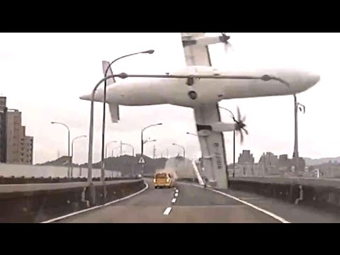 Worst plane crashes: Plane hits bridge, jet crashes into mountain & Malaysia MH370 - compilation