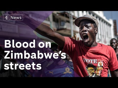 Zimbabwe election: Armed police clash with opposition supporters