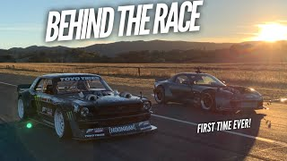 I race the Hoonicorn with my 1300 HP+ AWD RX-7! Full Send!