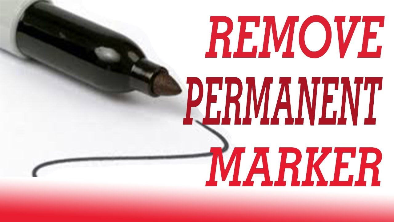 15 Ways To Remove Permanent Marker  How To Remove