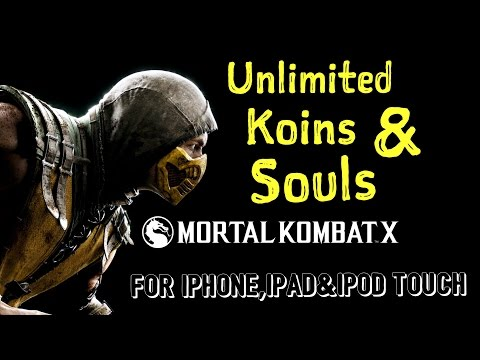 how to HACK mortal kombat X  for iphone,ipad & ipod touch unlimitted coins and souls!!