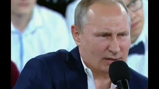 President Putin has held an almost 4 hour long session with student...
