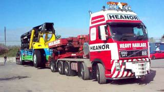 Heanor Heavy Haulage  with WH Malcolms New Reach Stacker