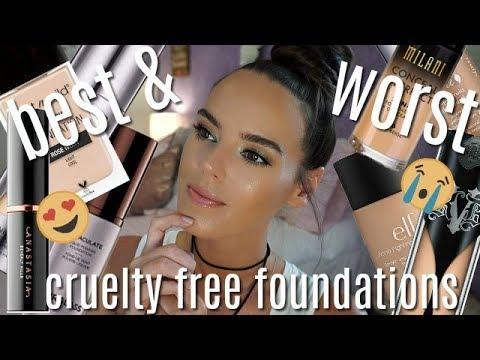 FOUNDATION SHOWDOWN | Best + Worst Cruelty Free Foundations