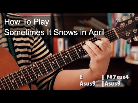 Sometimes it Snows in April Prince Guitar Tutorial