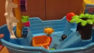 Детская игрушка видеообзор - Столик-песочница Пиратский Корабль