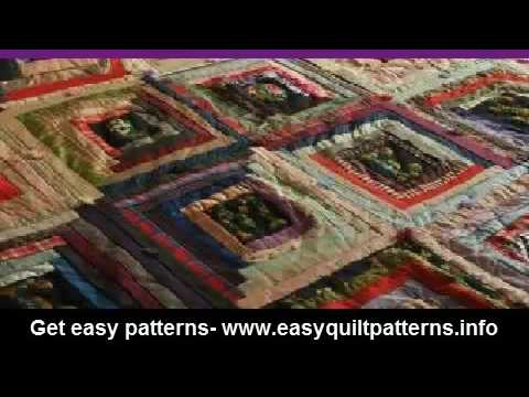 Beginners Free Motion Quilting Log Cabin Quilt Block Youtube