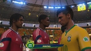 2014 Fifa World Cup - Cuartos de Final, Brasil Vs Colombia, Haciendo Historia Gameplay Xbox